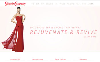Slimming Sanctuary - Web Design in Malaysia