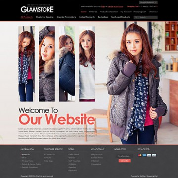 glamstore ecommerce website template