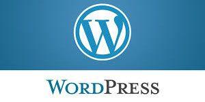 WordPress logo and text