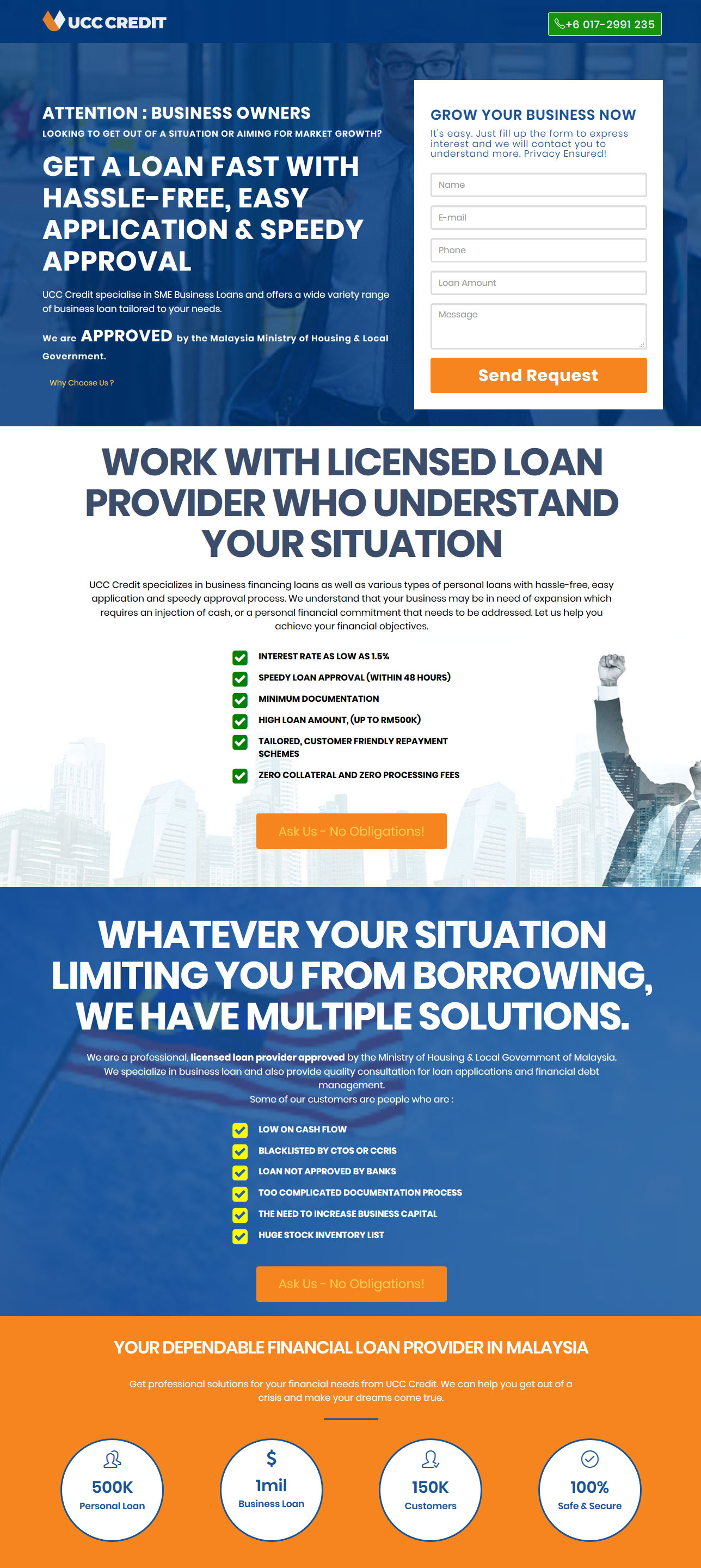 uccredit homepage screenshot